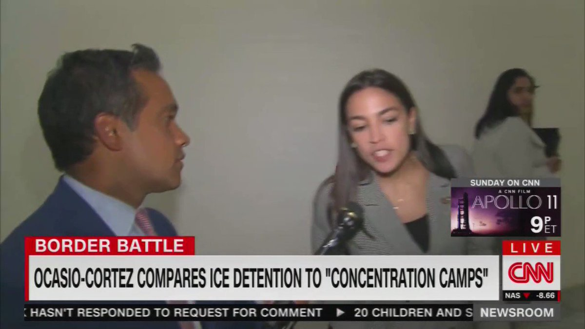 "Socialist Rep. Alexandria Ocasio-Cortez (D-NY) claims that it's a ""consensus"" that she is correct about her ""concentration camp"" remarks and falsely claims that the United States operated concentration camps during World War II"