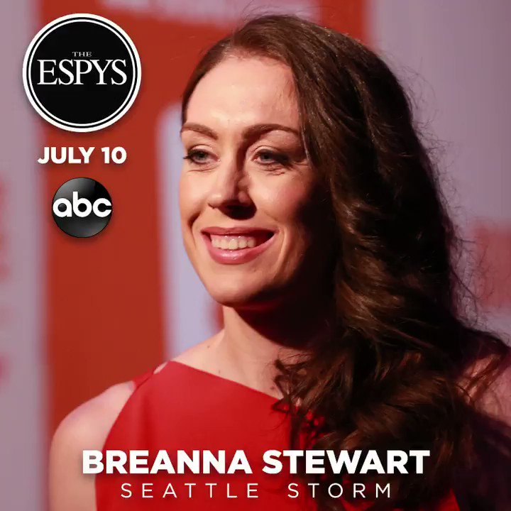"Your 2019 @ESPYS nominees for ""Best Female Athlete"" are...  🏀 @breannastewart  🤸‍♀️@Simone_Biles ⚽️ @alexmorgan13 ⛷ @MikaelaShiffrin  📝 Full list of nominees: http://bit.ly/31JBUyI   ☑️ Fan voting: http://es.pn/2MXYe4m   📺 2019 #ESPYS 