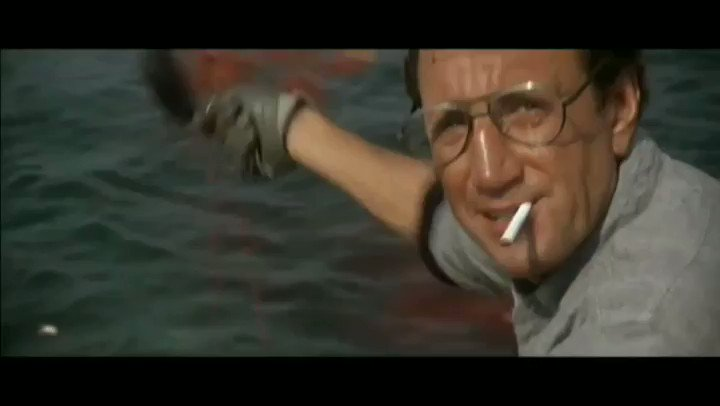 "The scene in Jaws where Brody utters the famous line, ""You're gonna need a bigger boat"", is one of those magical movie moments that will live on longer than any of us will draw breath. What a fantastic scene from a fantastic film!#WednesdayWisdom #WednesdayMotivation"