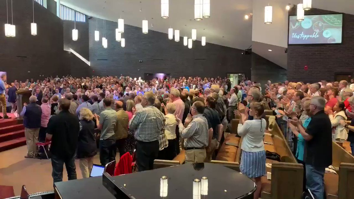 Image for the Tweet beginning: .@EPChurch welcomes Andrew Brunson home
