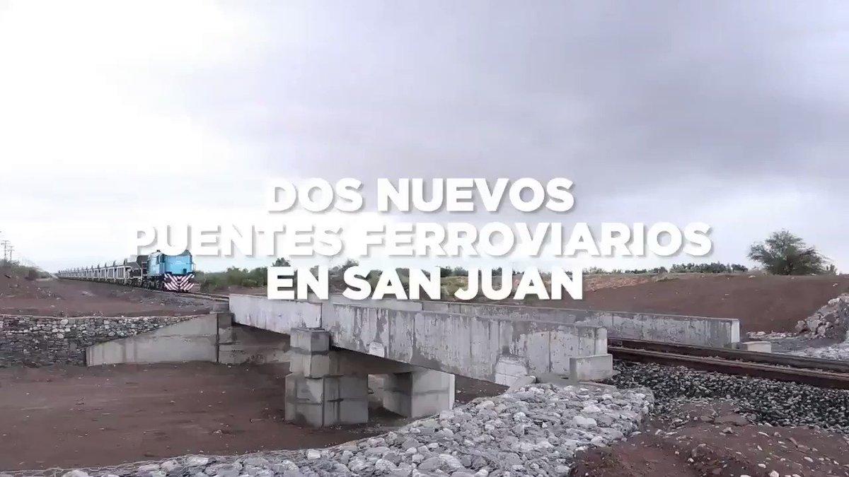 Se construyeron dos nuevos puentes ferroviarios en #SanJuan para que los trenes circulen de forma segura, llevando más carga. Esto es potenciar las economías regionales y reducir los costos logísticos de muchos productores del país. #JuntosPorElCambio