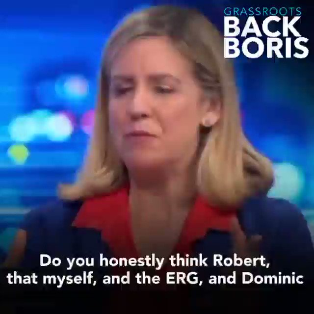"""Do you honestly think myself & the ERG would back Boris if we thought he wasnt going to deliver? Boris knows we must deliver""@andreajenkyns Q: Not a scintilla of doubt that we'll be out on 31st Oct? A: I trust Boris to deliver Brexit Q: By 31st Oct? A: 100% #Peston #BackBoris"