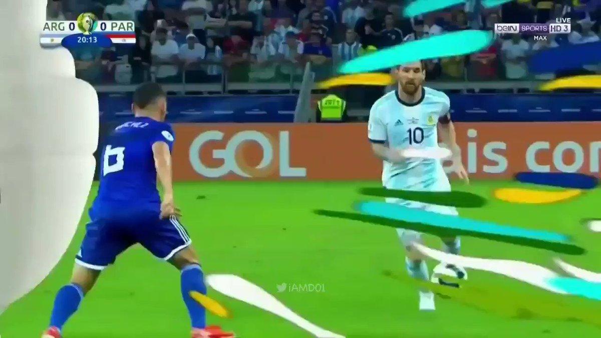 what a leoooo ..what a Beauty 😍😱 🐐 #Messi #CopaAmerica
