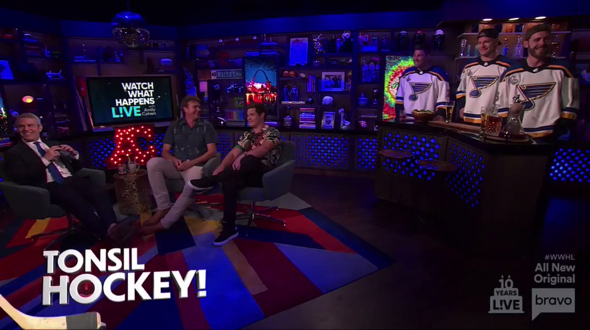 .@patmaroon, @JEdmundson3 and Colton Parayko went on @BravoWWHL with @Andy and ... just watch.