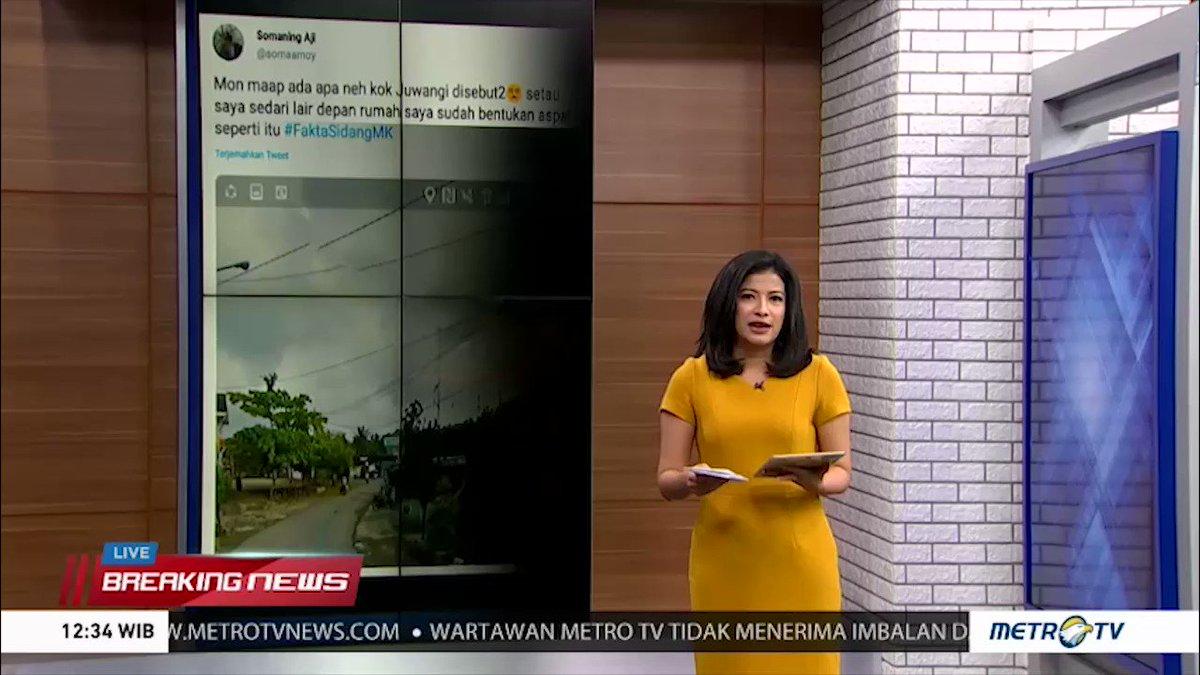 Sidang ketiga sengketa hasil Pilpres 2019 yang berlangsung selama 20 jam menjadi sorotan para netizen. Para netizen beramai-ramai membuat meme maupun hashtag yang lucu dengan menyertakan tagar #FaktaSidangMK.#HashtagSiang #HashtagSiangMetroTV (3)
