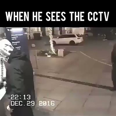 We encourage our clients to use CCTV warning signs or even allow their cameras to be conspicuous except for exceptional cases, cause this act is a very effective way of deterring potential criminal activity. Caught on camera. #cctvwarningsign #security #safety #mitobisecurity