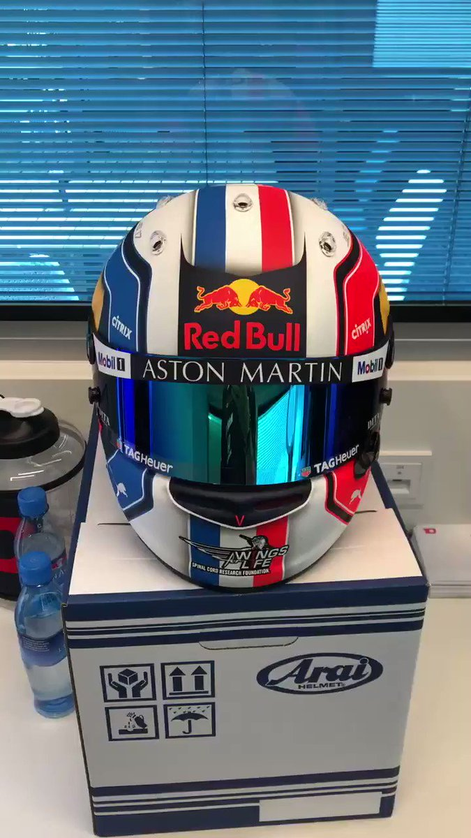 New helmet for this weekend.🇫🇷 Excited to get on track tomorrow!!