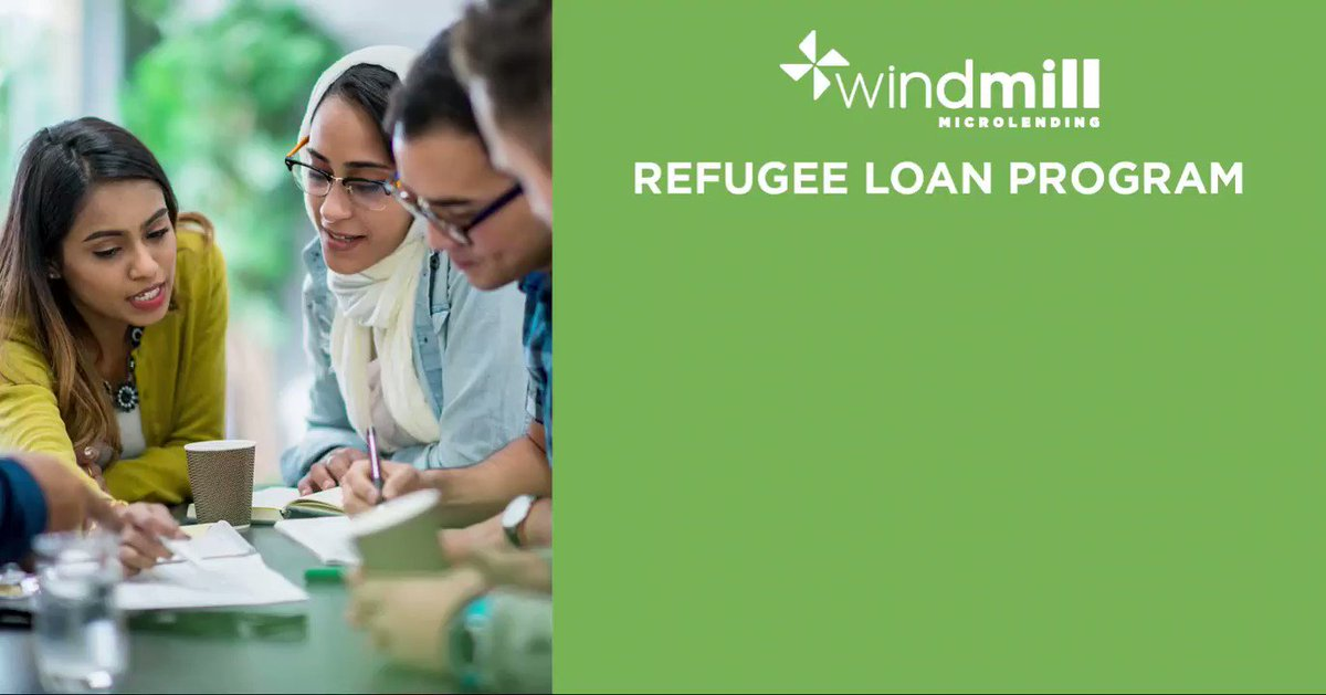 Image for the Tweet beginning: Windmill's Refugee Loan Program is