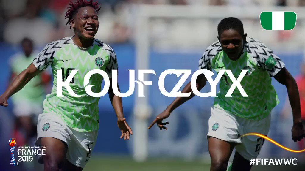 Congrats, @NGSuper_Falcons! 🇳🇬See you in the Round of 16! #FIFAWWC