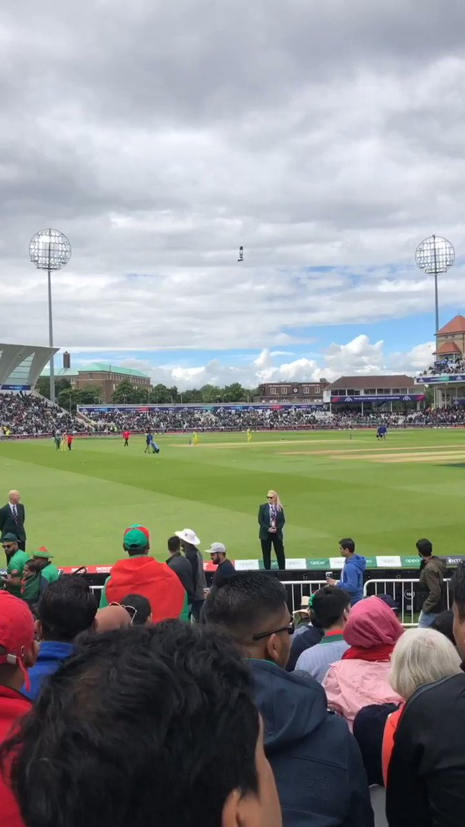 Watching Bangladesh 🇧🇩 vs Australia 🇦🇺#CWC2019  – at Nottingamshire County Cricket Club Physiotherapy Clinic