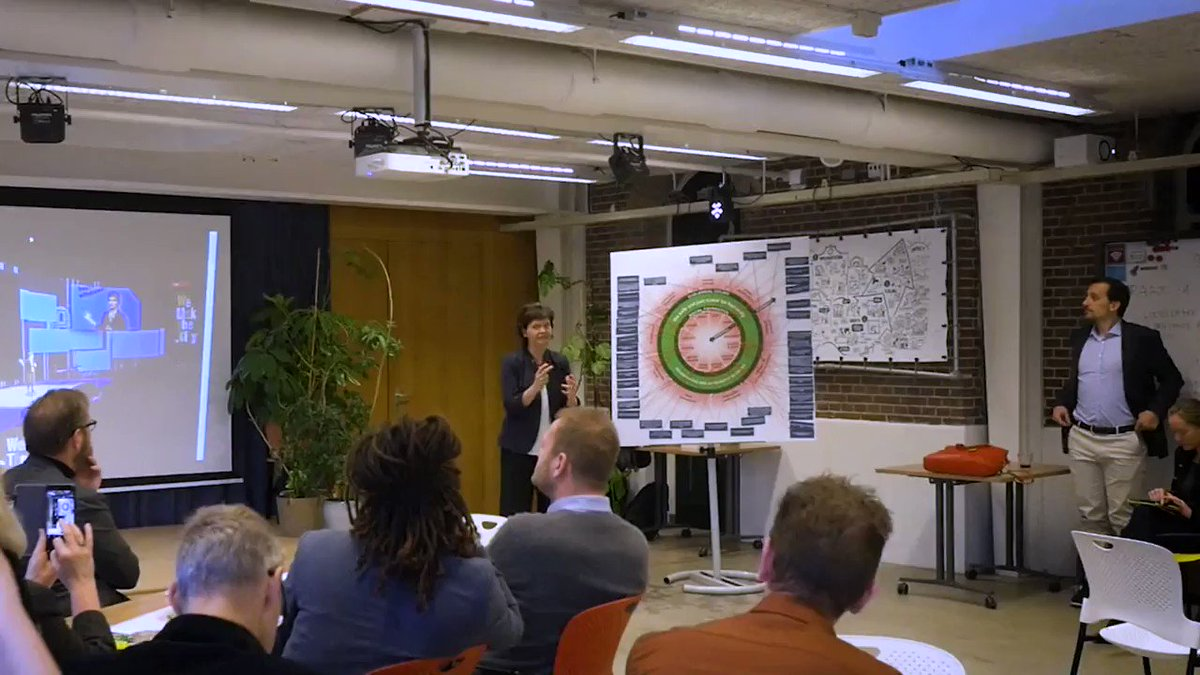 Check this out! We are turning the Doughnut into a tool for cities to reinvent their futures - starting in Amsterdam.  It's been great working with @circleeconomy and the City of Amsterdam @iamsterdam to bring the Doughnut down to Earth right here.
