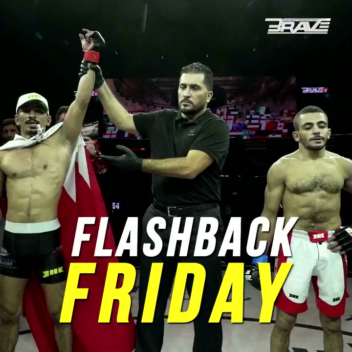 The last time Hussain Ayyad fought in Bahrain he left the BRAVE Arena with an amazing TKO win? He will be back in action next month representing the Kingdom of Bahrain in London. #BRAVECF #FlashbackFriday #FF #MMA #BRAVECF24