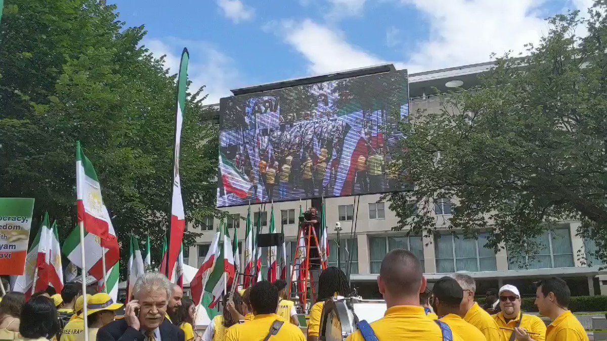The Iranian terrorist cult MEK is holding a massive gathering today calling for sanctions and regime change on the State Departments doorstep