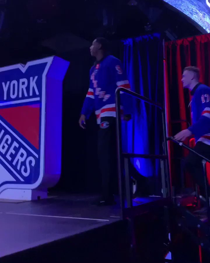 .@thegarden fam just got a whole lot bigger! So much love at the @nyrangers Draft Party for our new guys tonight 💙❤️ #NewYorkForever