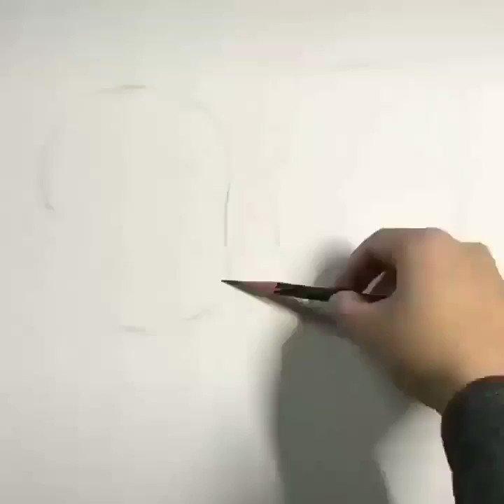 鉛筆一本で歳を重ねるイラスト