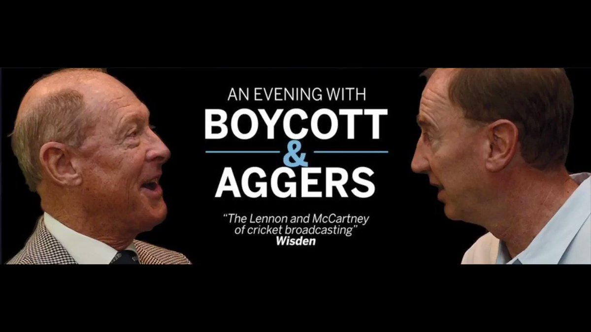 "Book your tickets for ""An Evening With"" Aggers and @GeoffreyBoycott at @THSHBirmingham on 20th October! Treat yourself to a great evening of laughter @birmingham_live @MoseleyAshfield  #Cricket #whatson http://ow.ly/fwmP30oUNhh"