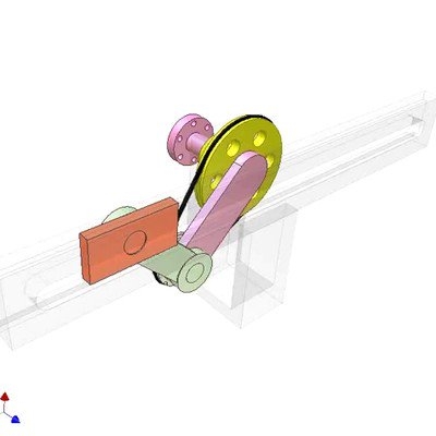 Slider Crank Mechanism With Satellite Pulley