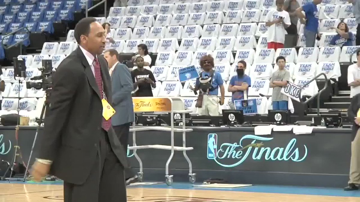 In a suit too. Stephen A. Swish 😭🐐