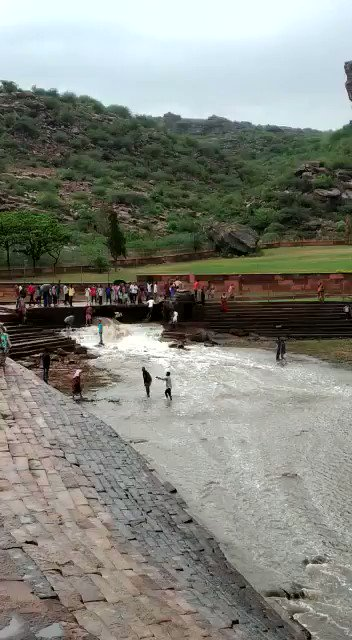Badami Akka Tangi falls (diDaga) is on full swing. Thanks to rains! 😍