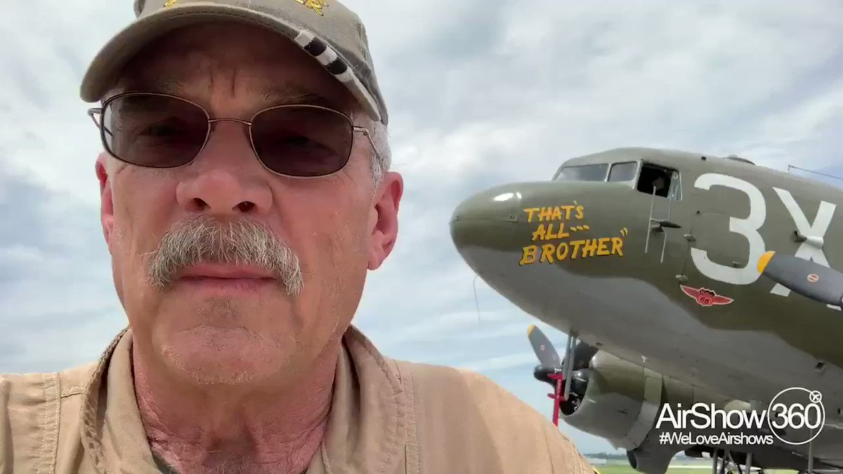 Since May 19, we have been honored to have Doug Rozendaal with the @CAF1957 That's All, Brother C-47 share his experiences from CT to Normandy to Paris Air Show with us and you since May 19. Here's Doug's finale report from Europe.  #weloveairshows #airshow360 #airshow❤️