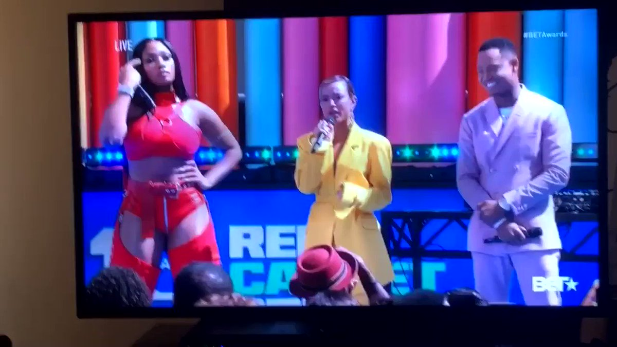 YALL THIS WAS SO UNPLANNED 😂😂😂 I was just hyping her up @theestallion #BETAwards