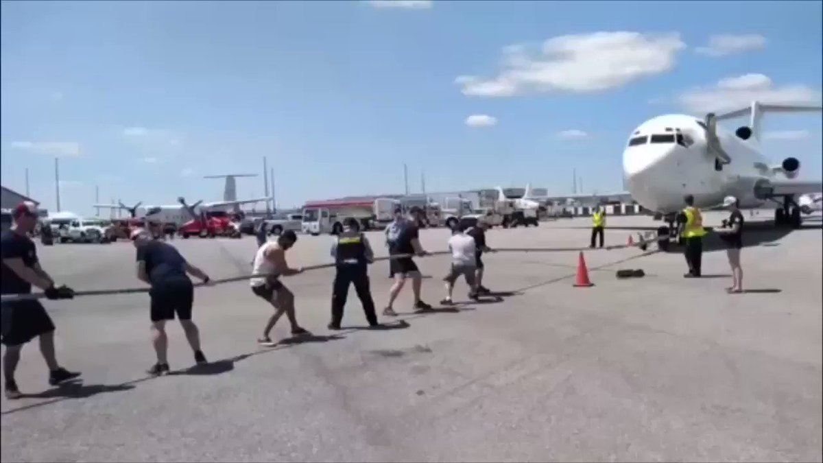 #Congratulations to the #OPP and all the teams that came to @CWHM to raise money for @HamHealthSci #MiraclePlanePull