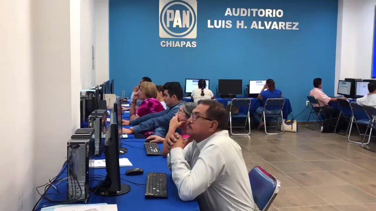 La evaluación para el Consejo Estatal de Chiapas concluyó con éxito. 👏🏼  Muchas felicidades a las y los aspirantes que presentaron el examen. Hoy más que nunca, en Chiapas #ElPANCrece y es gracias a ustedes.  @FORMACIONCENPAN @AccionNacional