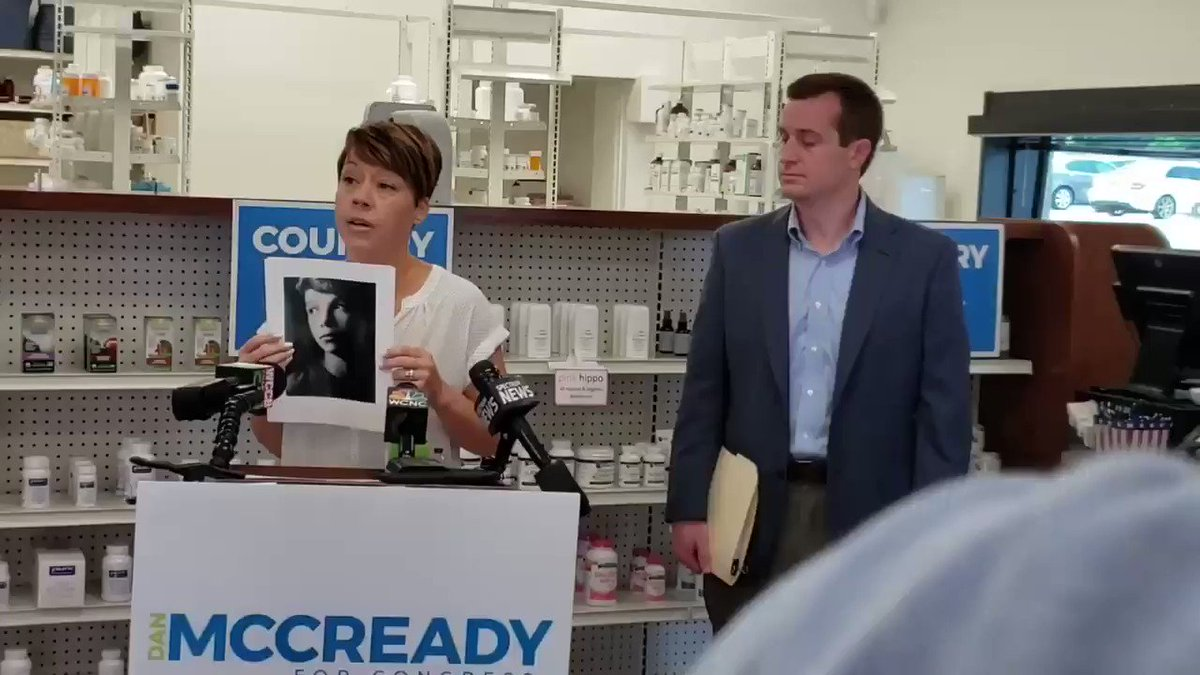 """""""No one should have to die because they can't afford their insulin."""" Jessica courageously shared the story of her young nephew. RT to say you stand with Jessica and every family who can't afford their lifesaving prescription drugs. #nc09"""