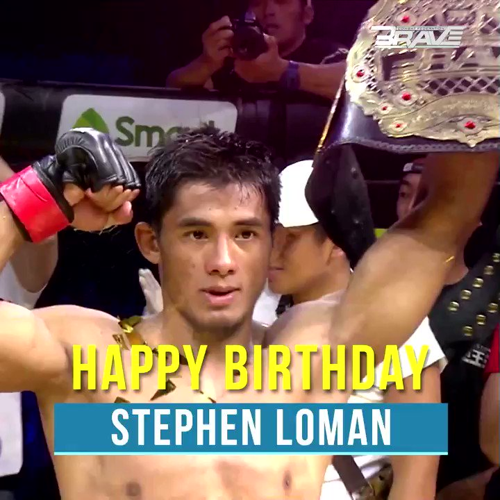 Happy birthday to BRAVE CF Bantamweight king Mark Stephen Loman! Like & Share to wish a good one! #Bday #BRAVEChampion