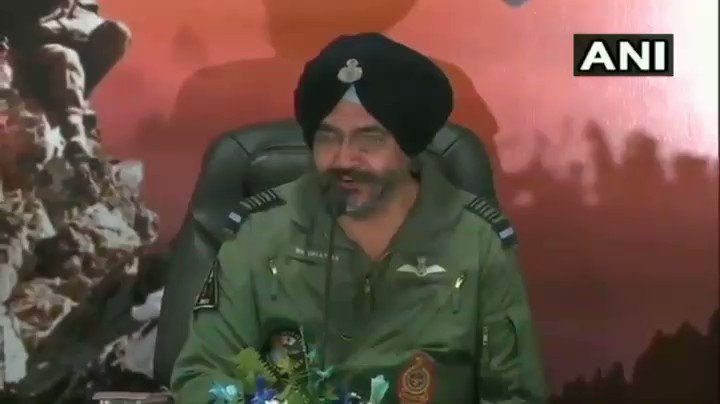 "News Flash BS Dhanoa,Indian Air Chief Marshal says,""On Balakot let me tell you,#pakistan didn't come into our airspace.Our objective was to strike terror camps & their's was to target our army bases.We achieved our military objective. None of them crossed the Line of Control."""