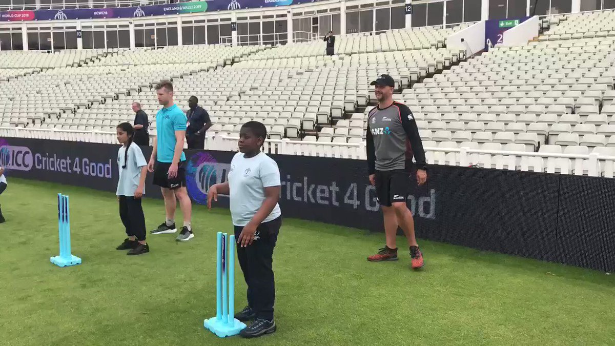 Keep an 👀 out for the full video on our Facebook! WARNING: @shanejurgo brings the 🔥🔥🔥#OD4C #BACKTHEBLACKCAPS #CWC19 @cricketworldcup @ICC
