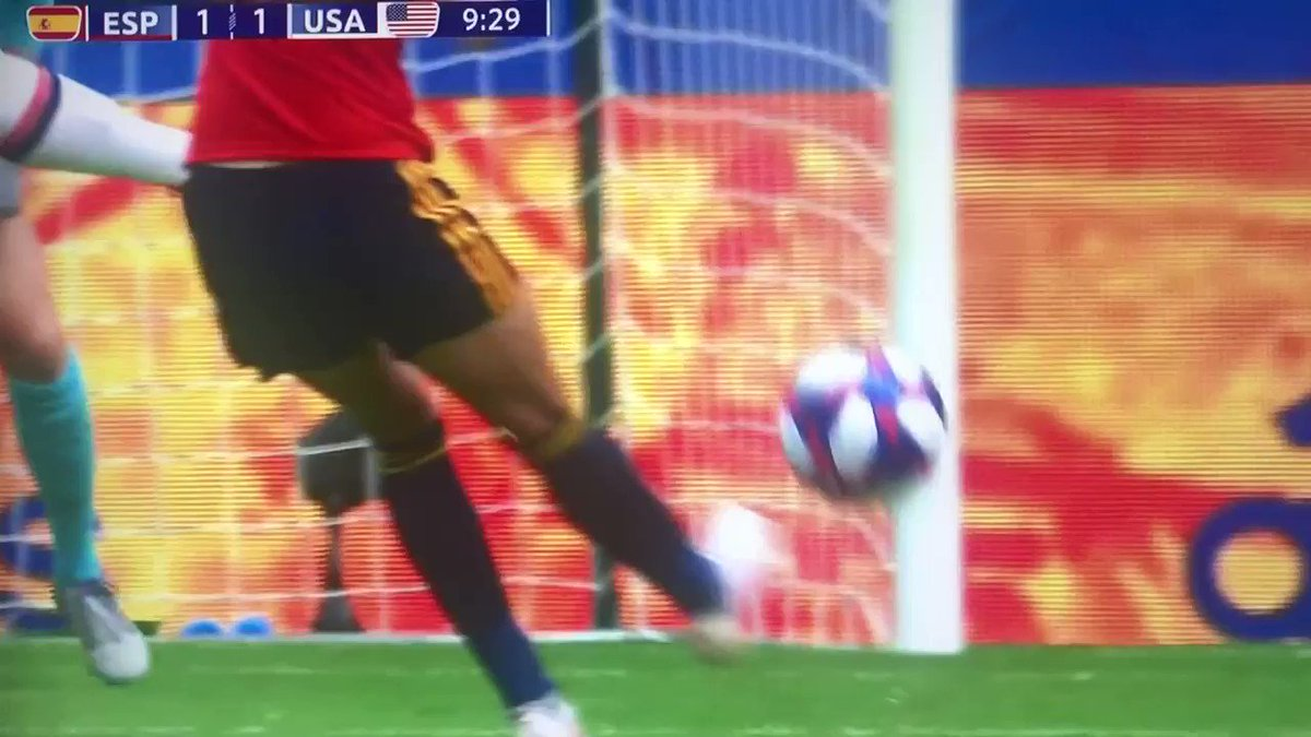 Ruh Row ... first goal #USWNT has given up in #WorldCup2019
