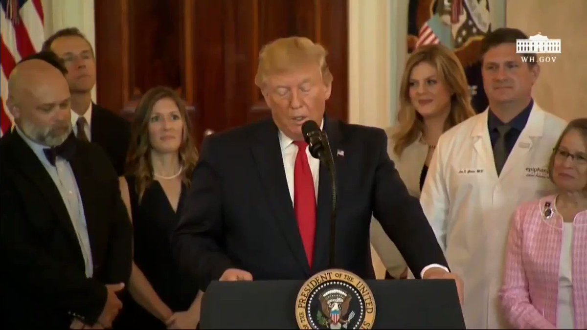 """""""Todays action is not just about lower prices, it is also about helping Americans find excellent care."""" -@realDonaldTrump"""