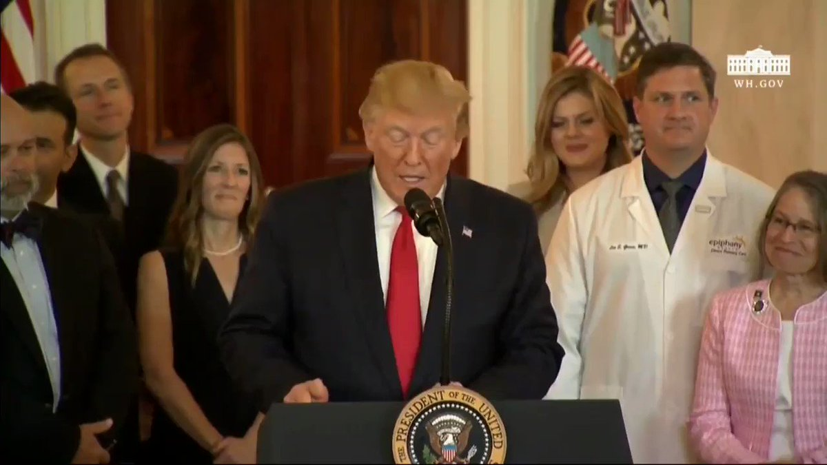 """""""As we fight to increase transparency and lower cost per patient, more than 120 Democrats in Congress support Bernie Sanders' socialist takeover of American health care."""" -@realDonaldTrump"""