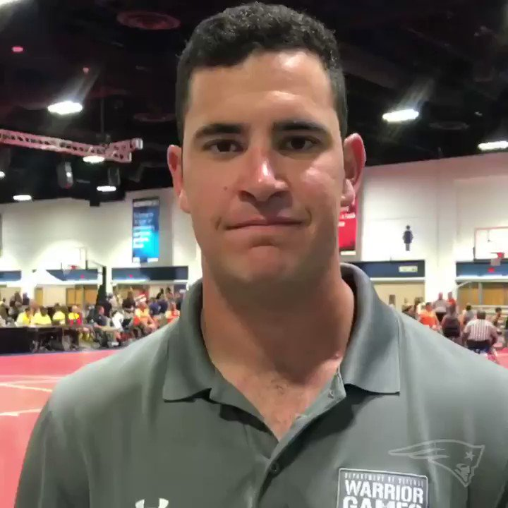 #Patriots LS and Navy Lieutenant Joe Cardona is checking in from the @warriorgames in Tampa, FL where over 300 wounded veterans are competing in nearly 11 different sports 👊
