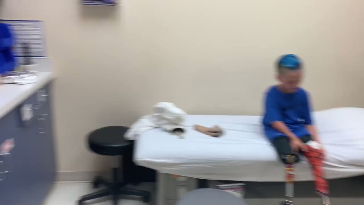 Gritty surprises kid with custom Gritty prosthetic leg