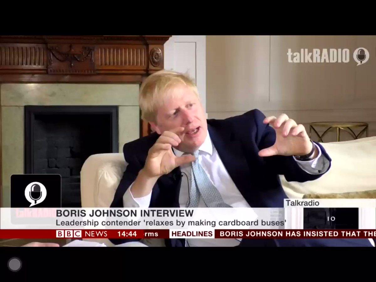 Here's @BBCSimonMcCoy reacting to @talkRADIO interview with Boris Johnson