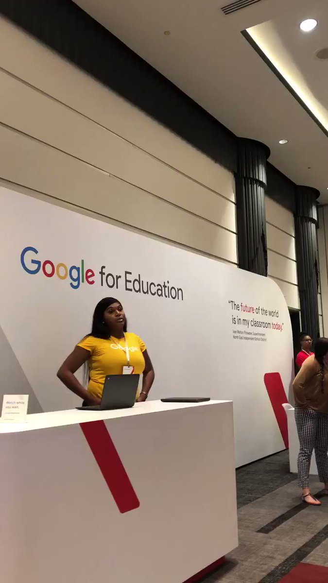 Waiting for my turn at the anywhere school from @GoogleEducation #ISTE19