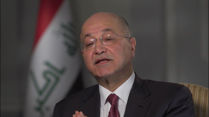 """""""We in Iraq have suffered from sanctions,"""" Pres @BarhamSalih tells me.  He says there's a """"fundamental question"""" if sanctions change behavior.  Abandoning the Iran nuclear deal alltogether """"could be disastrous for the whole neighborhood, not just for Iran, and not just for Iraq."""""""