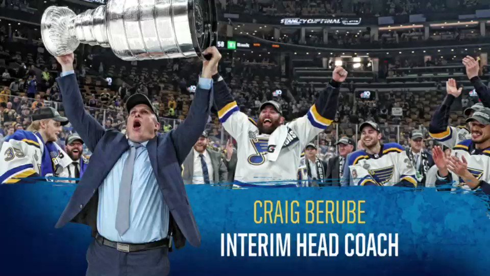BREAKING NEWS: Craig Berube signs a three-year contract to remain head coach of the Blues. #stlblues DETAILS: atnhl.com/2X3MtOc