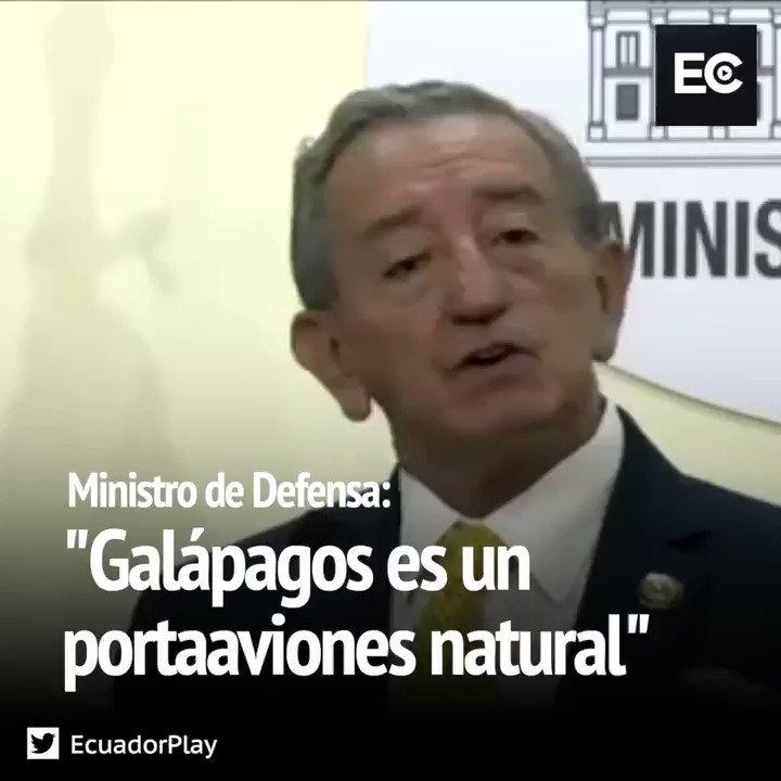 """Lo dijo el Ministro de Defensa, Oswaldo Jarrín: """"Galápagos será el portaaviones natural de Estados Unidos"""""""