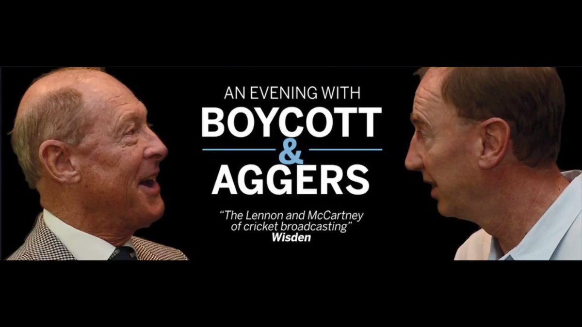 The box office is now open for an evening with @GeoffreyBoycott and @Aggerscricket at @RoyalNottingham on 26th September - Book now! @VisitNotts @BBCNottingham @BBCNottingham #Cricket #whatsonNottingham http://ow.ly/HAkN30oYMTV
