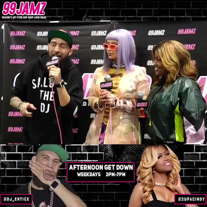 #BETAwards: @IGGYAZALEA finally met the #AfternoonGetDown's @supacindy & @djentice backstage at the @betawards! Watch her talk about new album dropping next month & more in their full interview on our YouTube channel now #ThePeoplesStation #WEDR #99JAMZ