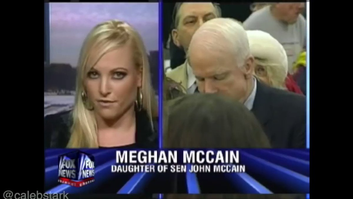 Meghan mccain is a democrat, she just doesn't know it