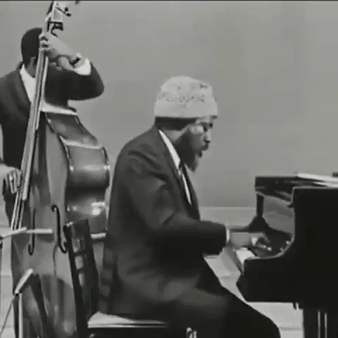 Thelonious Monk improvising on the tune 'Blue Monk' live in Norway, 1966.