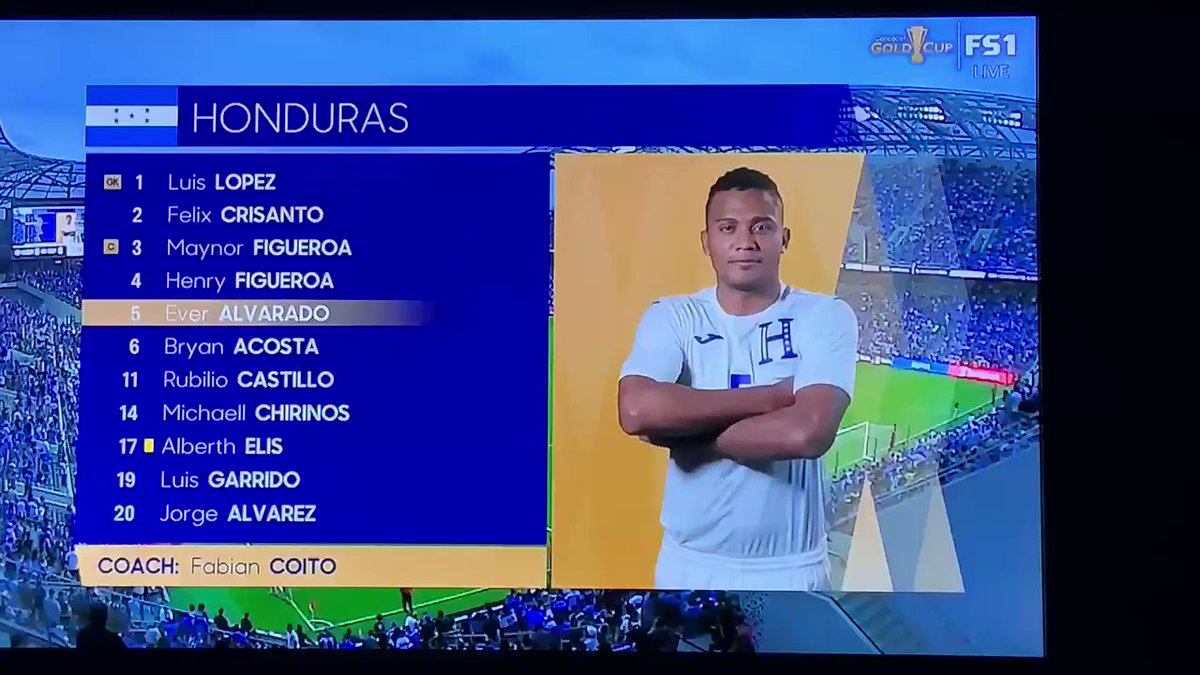 Someone teach Chirinos how to cross his arms like a man and not like a genie. #CONCACAF #GoldCup2019  #HONvsELS