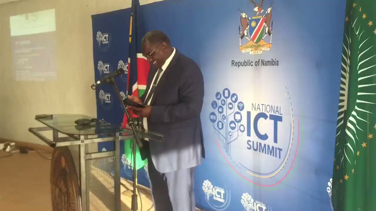 """Minister of Information and Communication Technology Stanley Simataa announced this morning that the 6th National ICT Summit under the theme """"Accelerating Digital Transformation in Namibia"""", will be held from 07-09 October 2019 in Windhoek."""