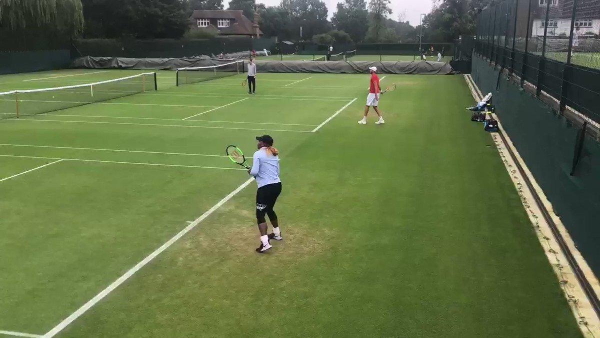 📍 Aorangi👋@serenawilliams #Wimbledon