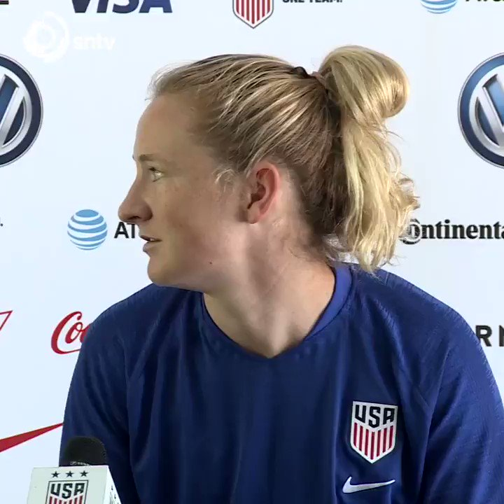 "The cheekiest question ever? French reporter asks @USWNT forward @tobinheath if her side ""will let"" the #wwc hosts win in their quarter-final match this Friday. #wwc2019 #fifawwc2019 #fifawwc #football #soccer #news #womensport #america #USA #France #sport #video"