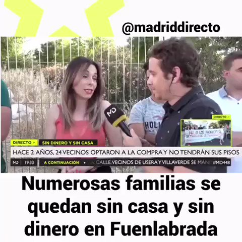 Image for the Tweet beginning: 24 familias de #Fuenlabrada están
